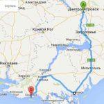 Маршрут поездки в Скадовск