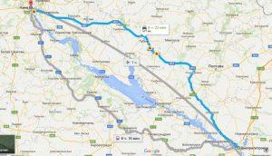 Поездки в Киев, маршрут через Кобеляки