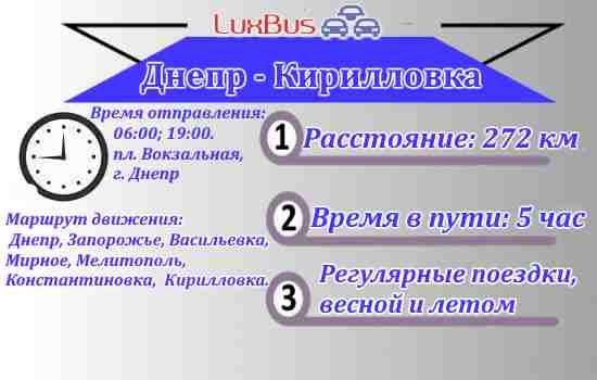 Маршрутка Днепр-Кирилловка