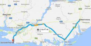 Мелитополь-Железный порта, карта
