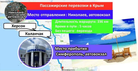 Перевозки Николаев-Симферополь