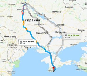 Поездки Киев-Ялта