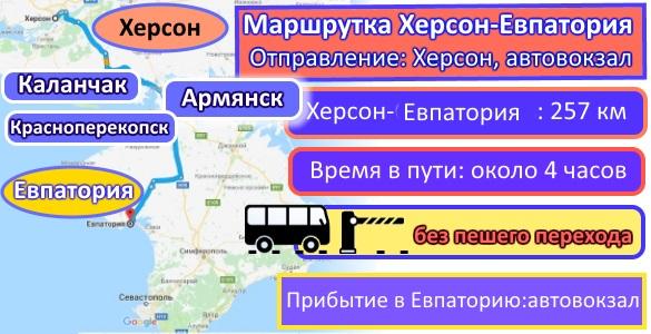 поездки Херсон-Евпатория