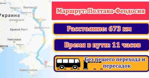 поездки Полтава-Феодосия