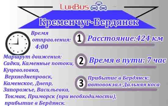 Маршрутка Кременчуг-Бердянск