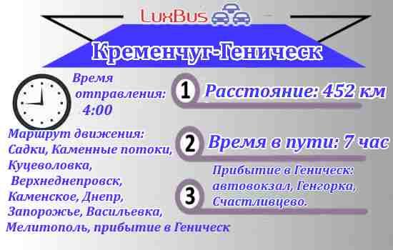 Маршрутка Кременчуг-Геническ