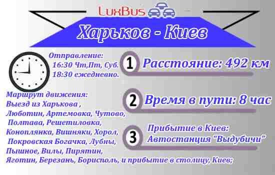Автобус Харьков-Киев