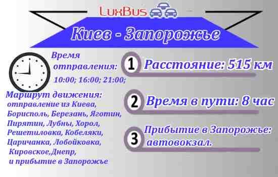 Поездки Киев-Запорожье