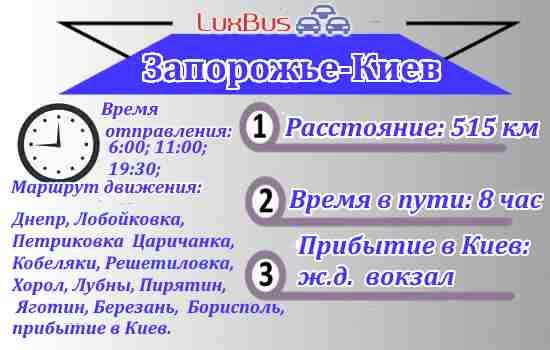 автобус Запорожье-Киев