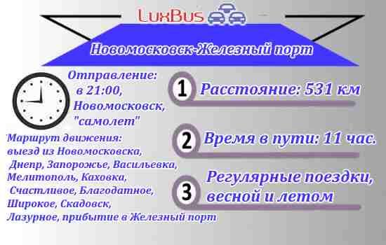 Автобус Новомосковск Железный порт