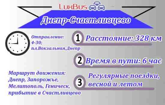 Поездки Днепр-Счастливцево